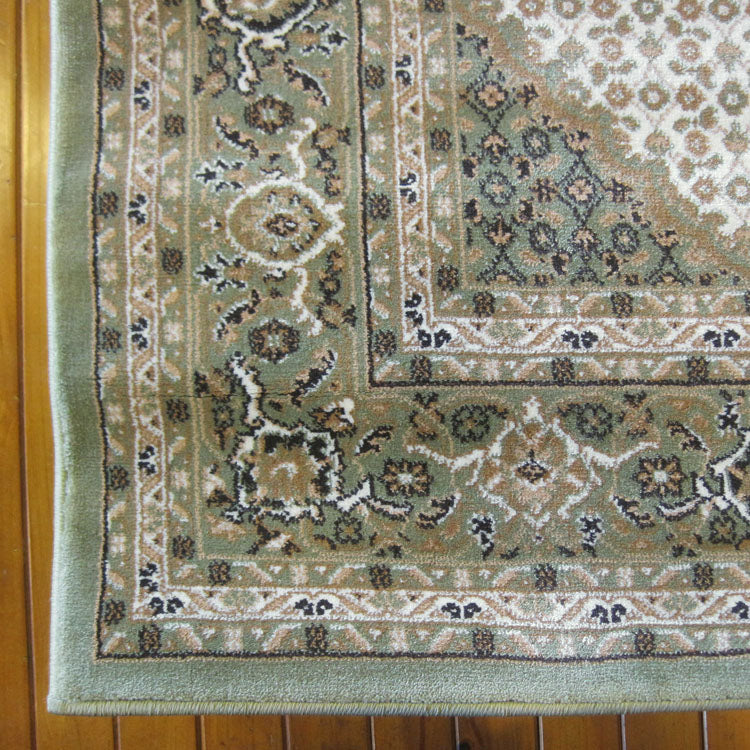 Palace Persian Fish Green Runner Rug