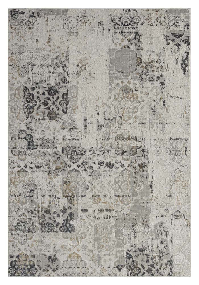 Portise Greenwood Grey Beige Rug