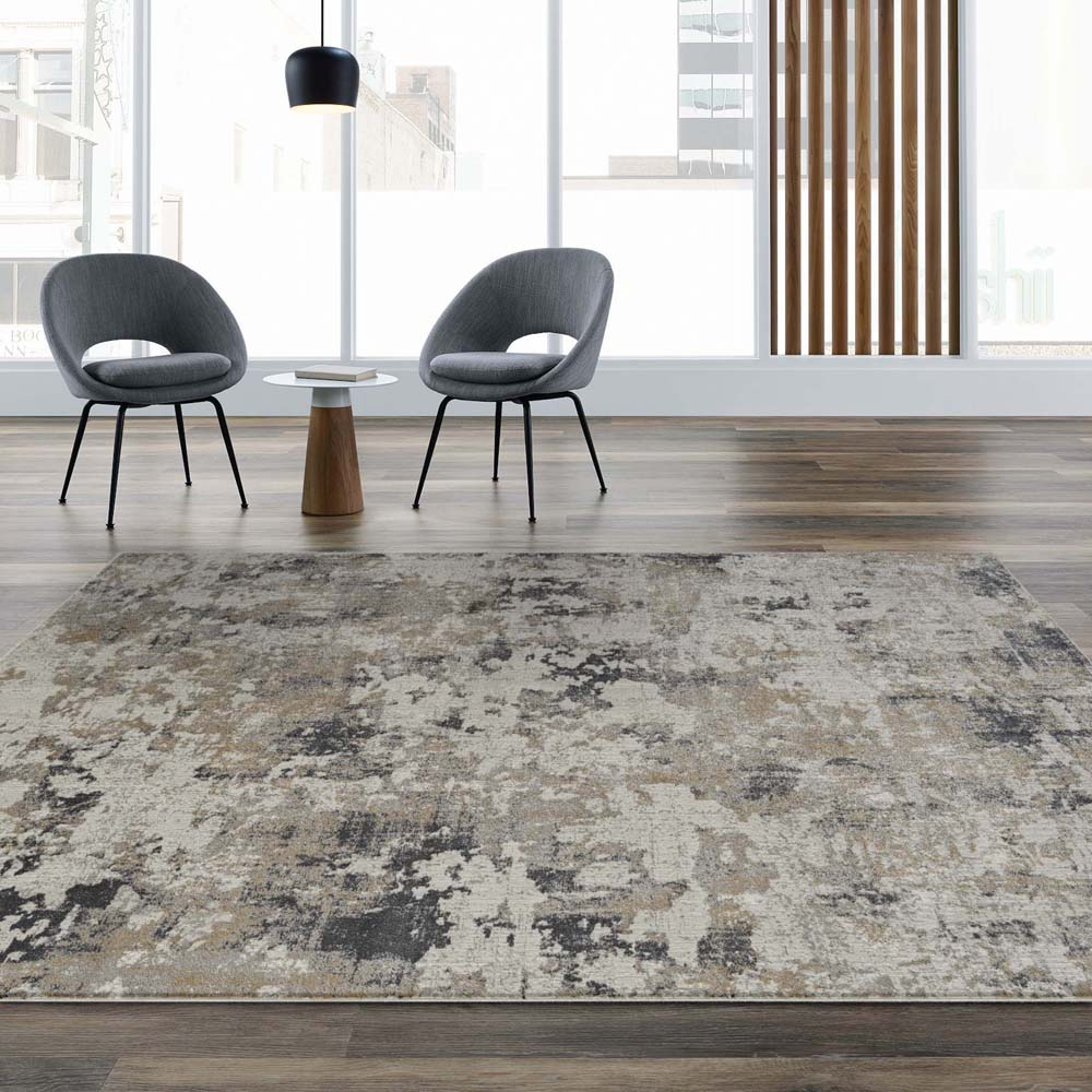 Portise Plantation Grey Beige Rug