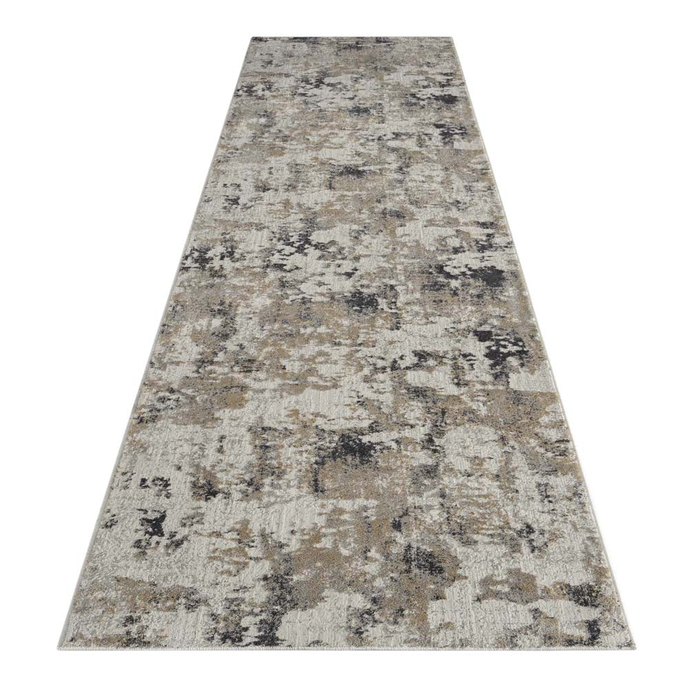 Portise Plantation Grey Beige Runner Rug