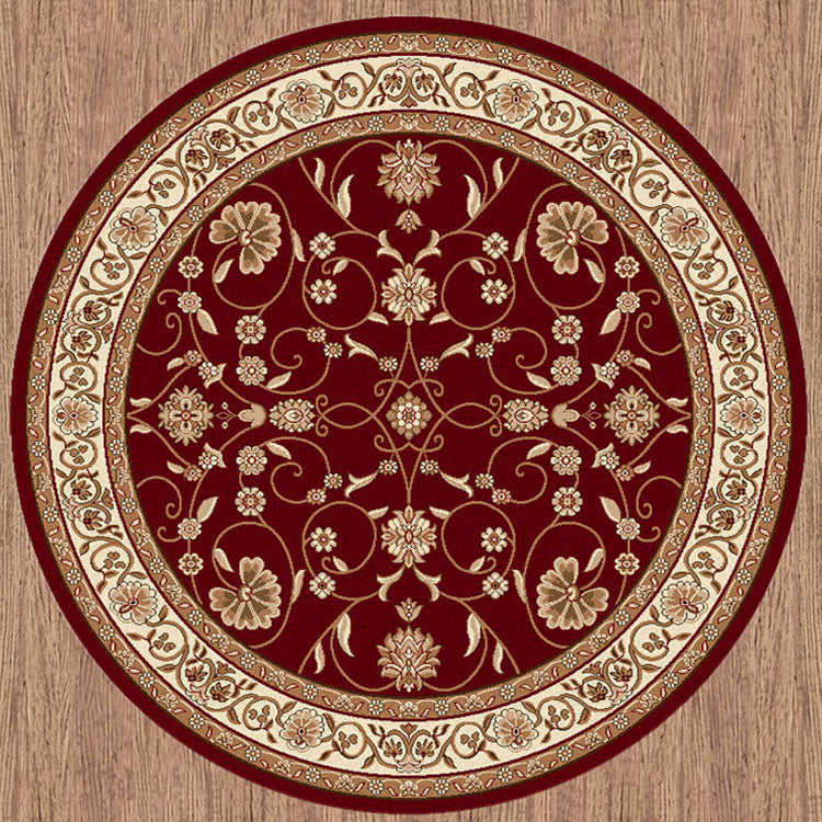 Nobel Glorious Red Round Rug