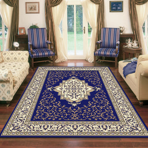 Nobel Queen Dark Blue Rug