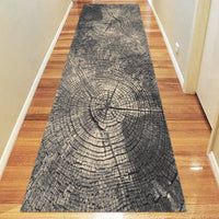 Ruby Glow Grey Runner Rug