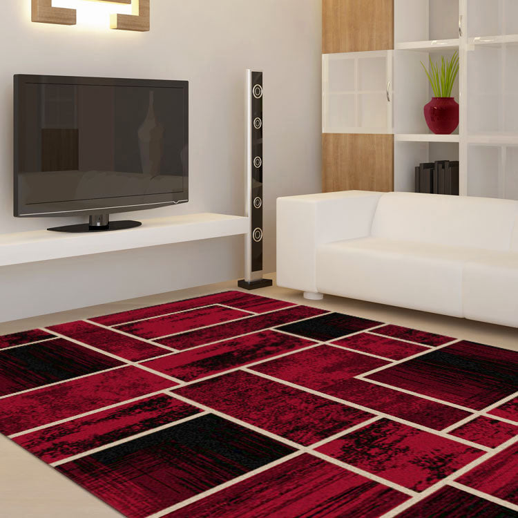 Ruby Twist Red Rug