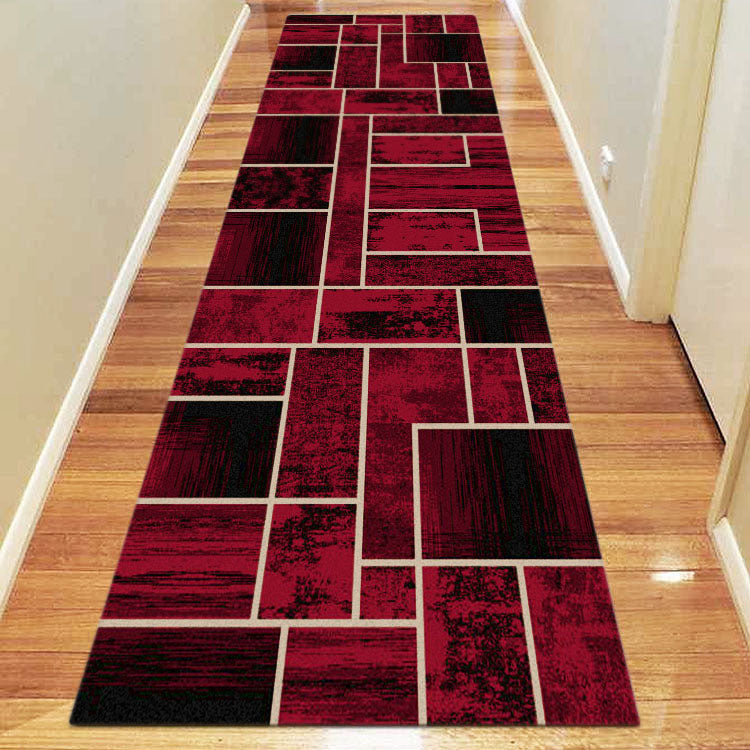 Ruby Twist Red Runner Rug