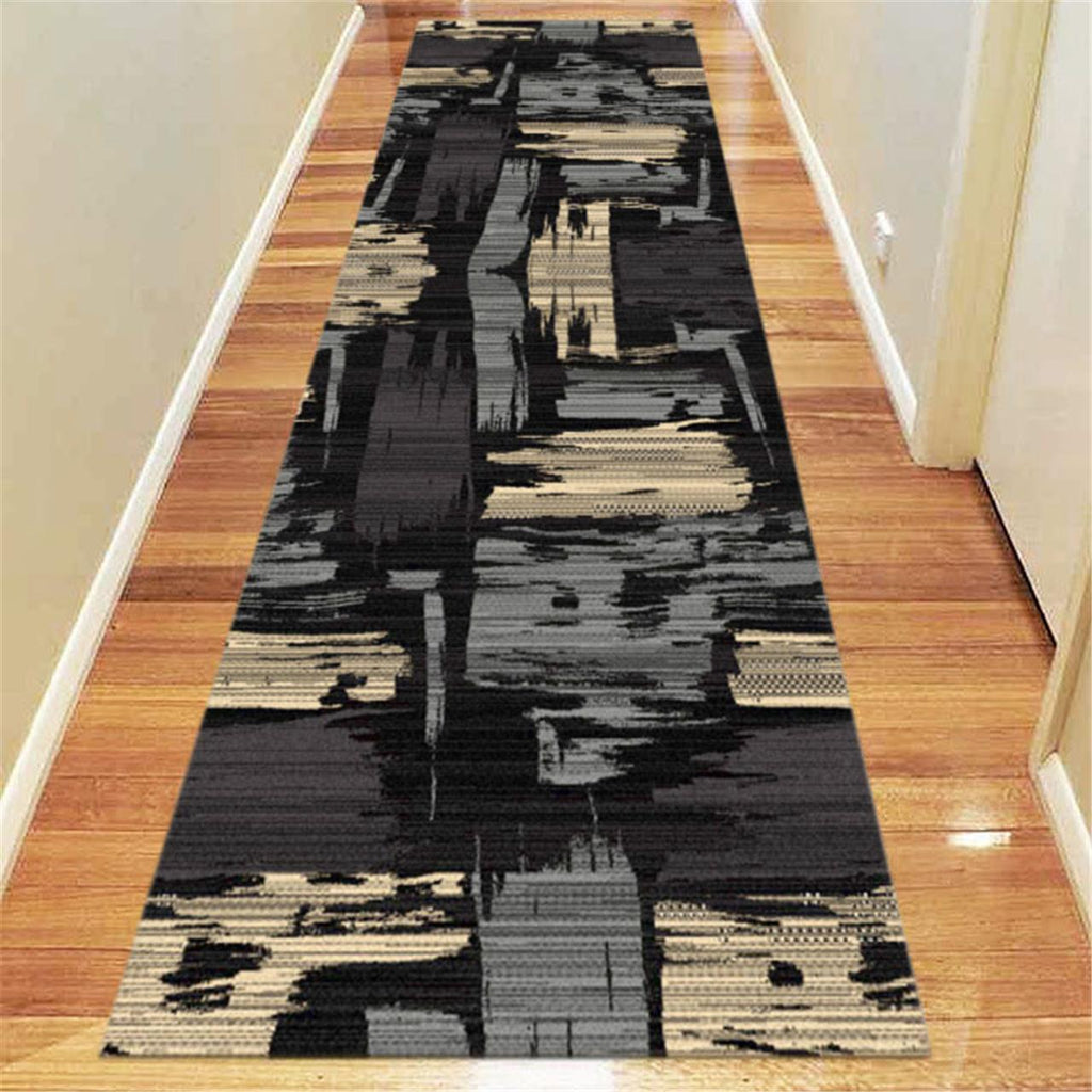 Ruby Twenty Black Runner Rug