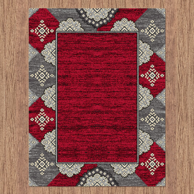 Ruby Star Red Rug
