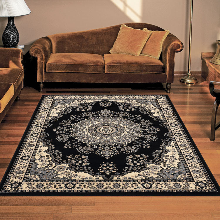 Ruby Honor Black Rug