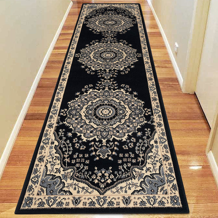 Ruby Honor Black Runner Rug