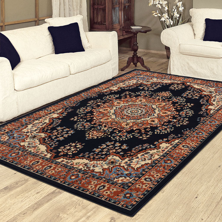 Ruby Flower Navy Rug