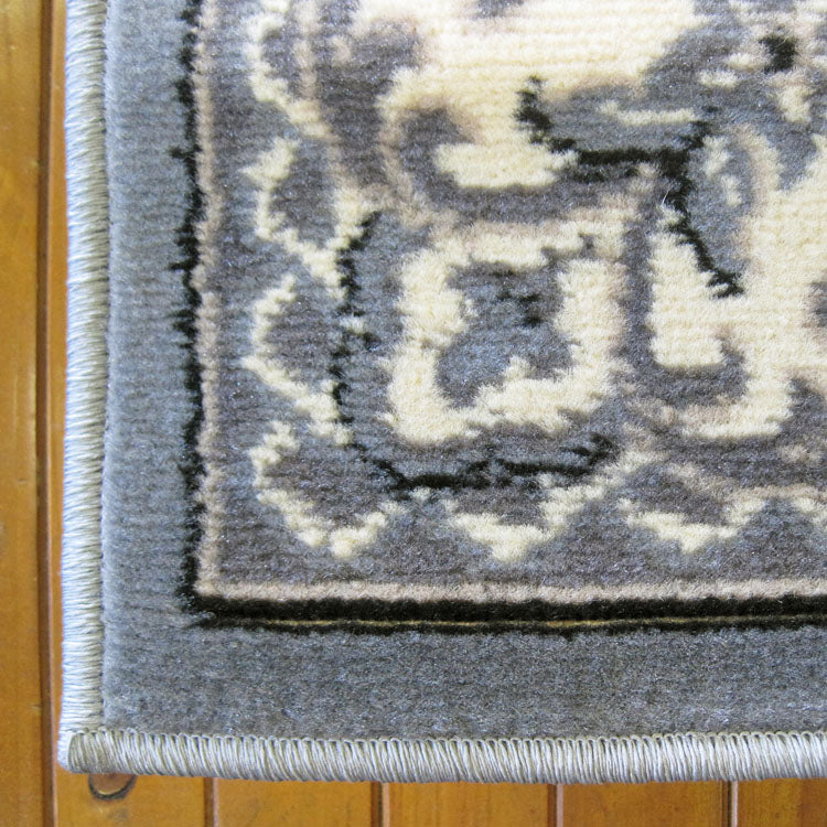 Ruby Floral Grey Runner Rug