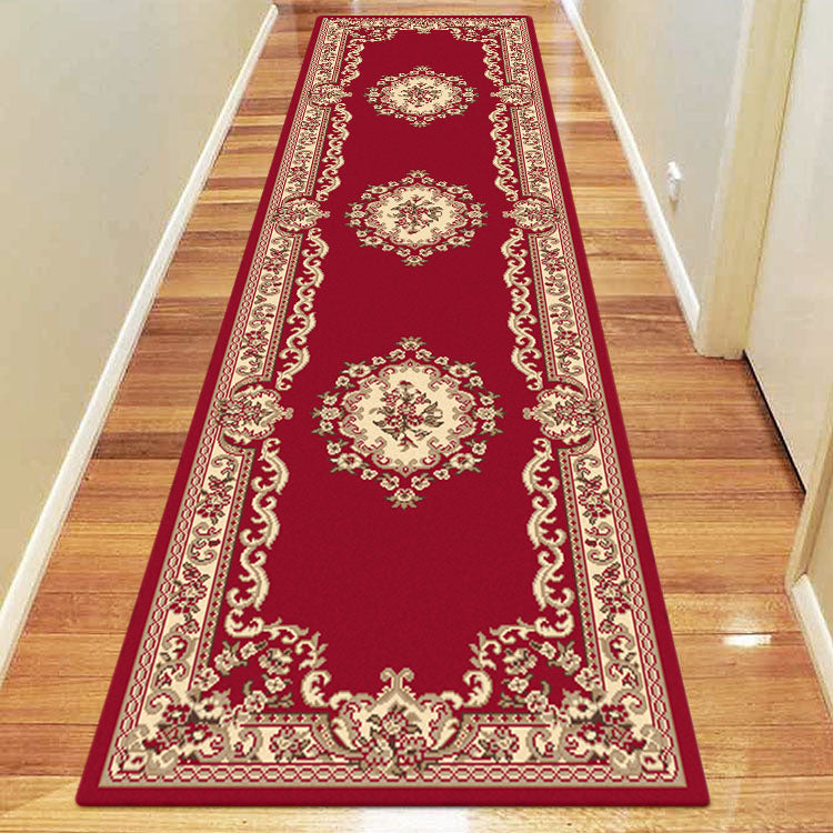 Ruby Floral Red Runner Rug