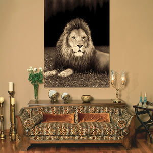 Ruby Lion Black Rug