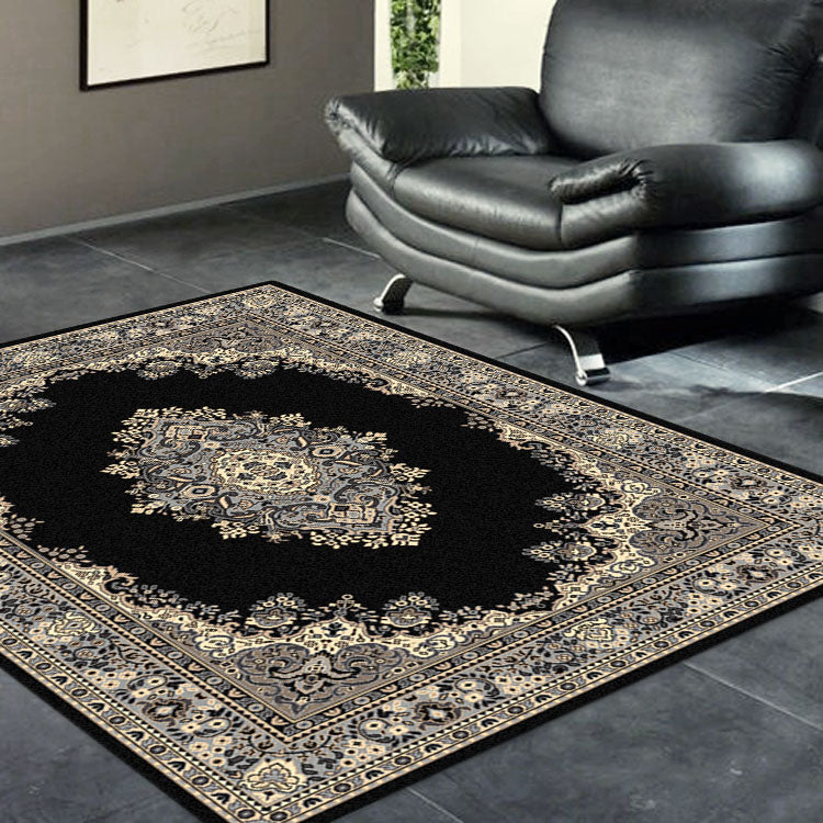 Ruby Zeal Black Rug
