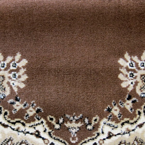 Ruby Zeal Brown Runner Rug