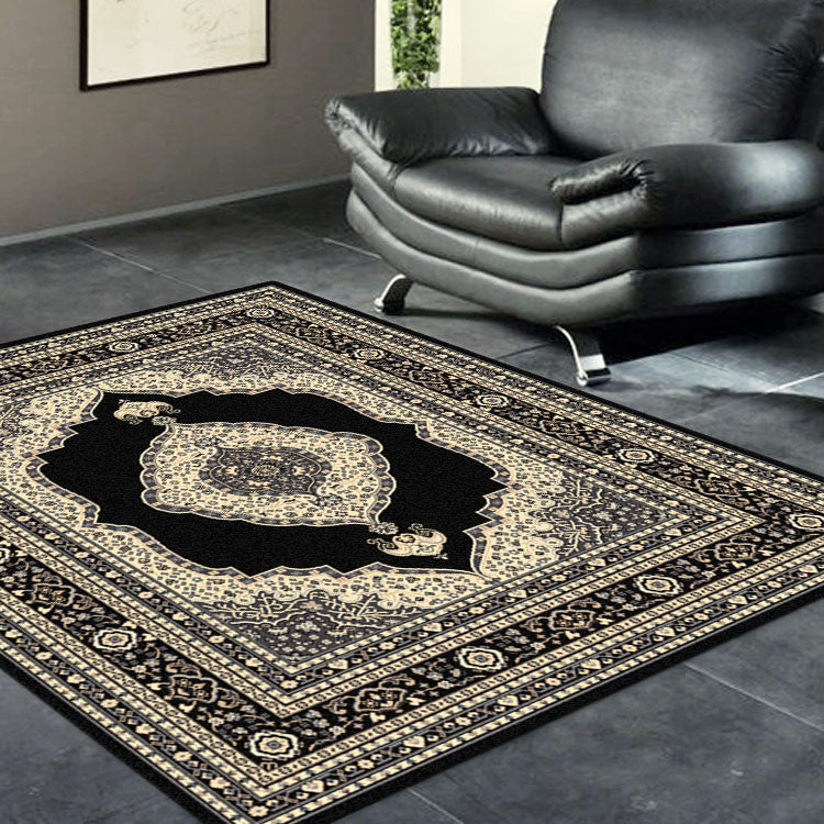 Ruby Mettle Black Rug