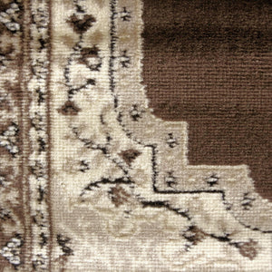 Ruby Mettle Brown Runner Rug
