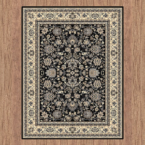Ruby Fervor Black Rug