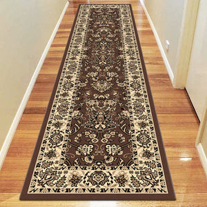 Ruby Fervor Brown Runner Rug
