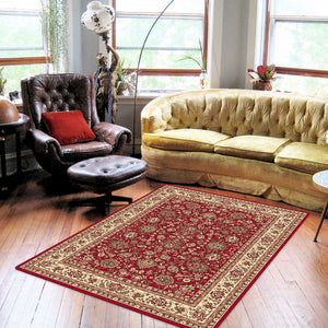 Ruby Fervor Red Rug