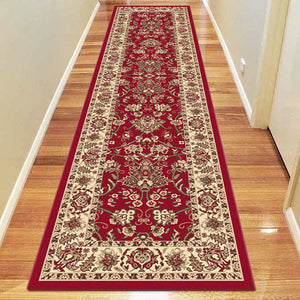 Ruby Fervor Red Runner Rug