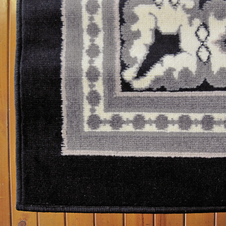 Ruby Craze Black Runner Rug