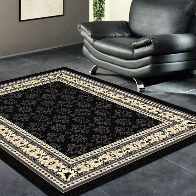Ruby Craze Black Rug