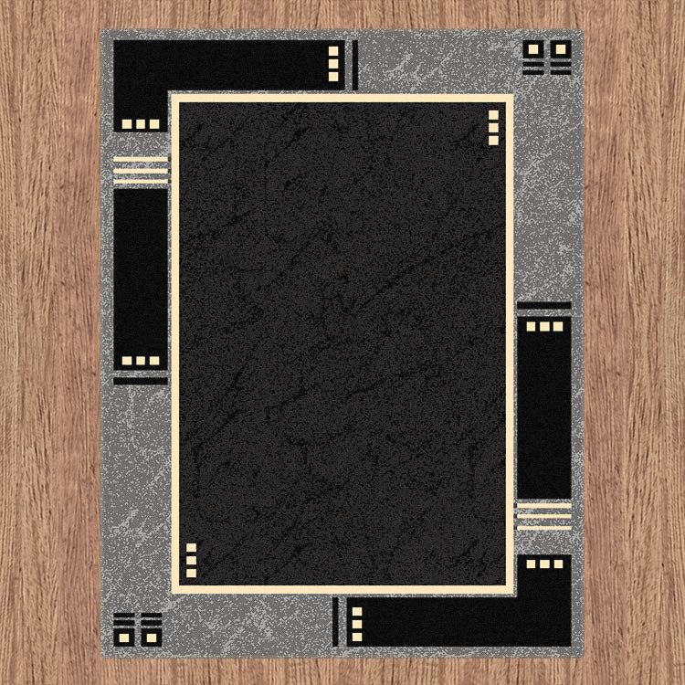 Ruby Delight Black Rug