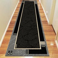 Ruby Delight Black Runner Rug