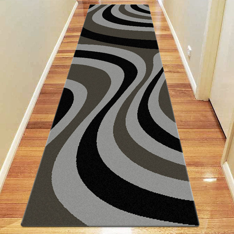 Ruby Shine Grey Runner Rug