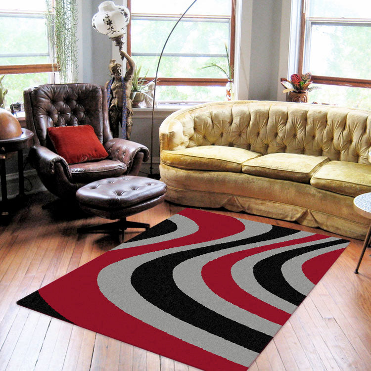 Ruby Shine Red Rug