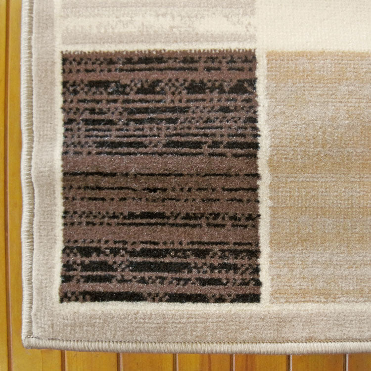 Ruby Slot Beige Runner Rug