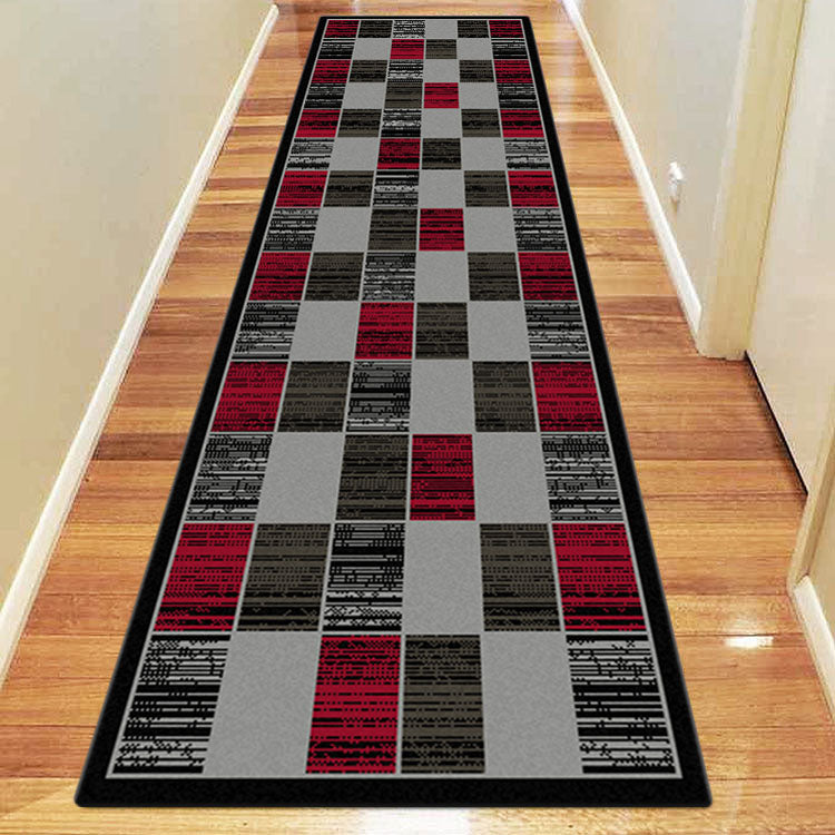 Ruby Slot Red Runner Rug