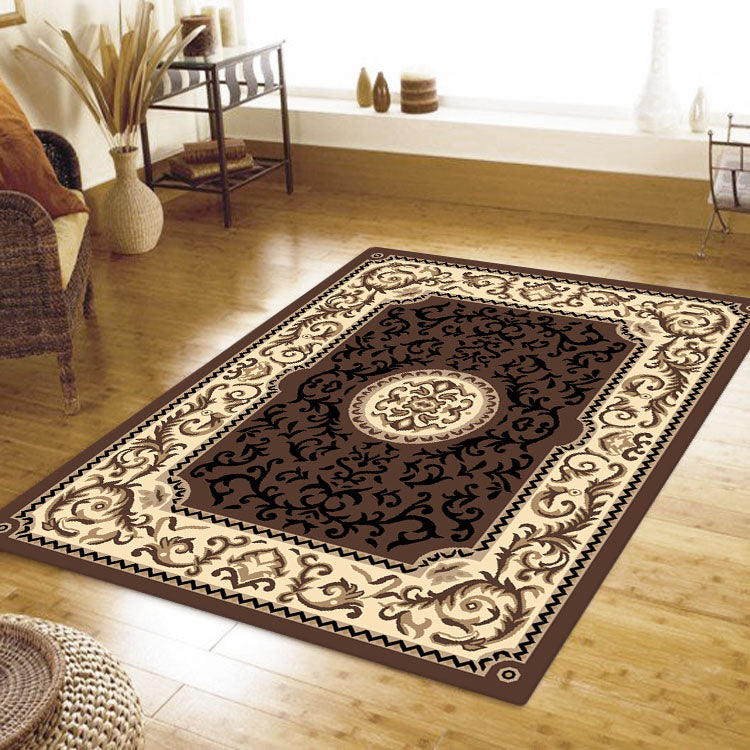 Ruby Coral Brown Rug
