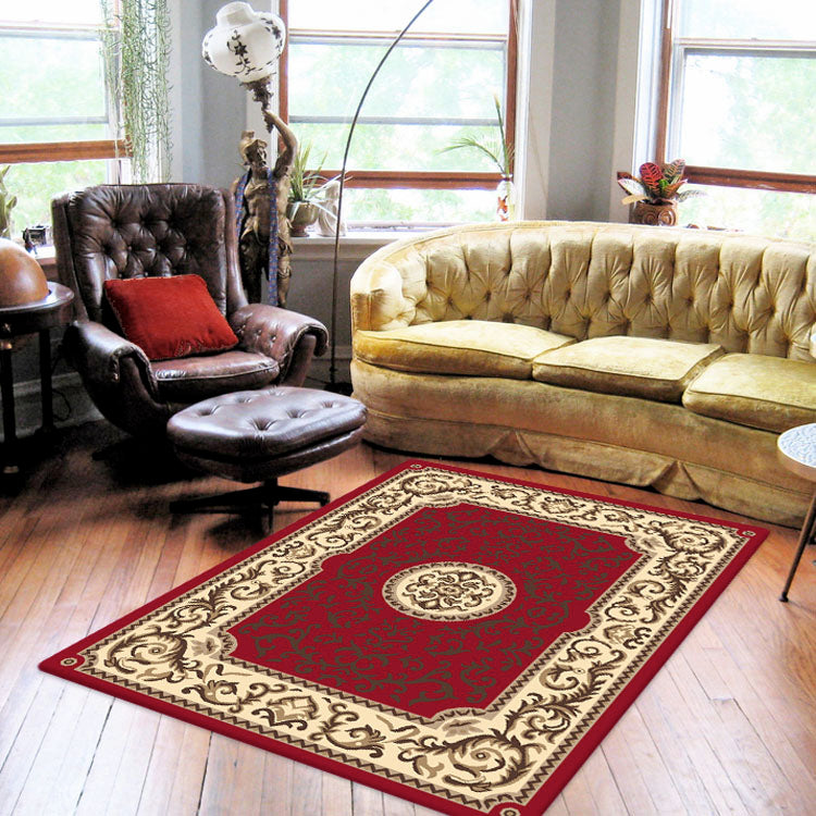 Ruby Coral Red Rug