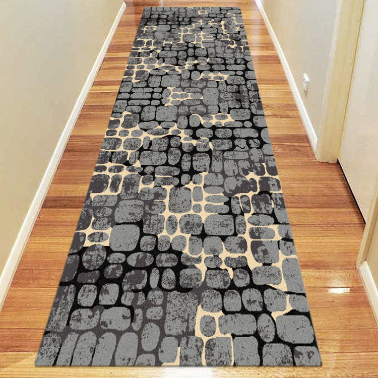Ruby Garnet Grey Runner Rug