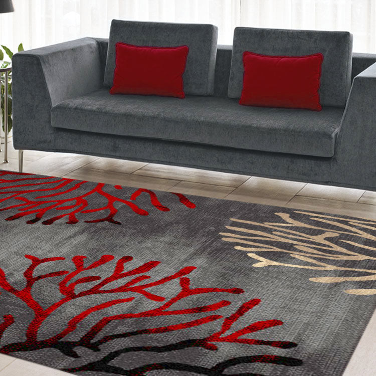 Ruby Cherry Grey Rug