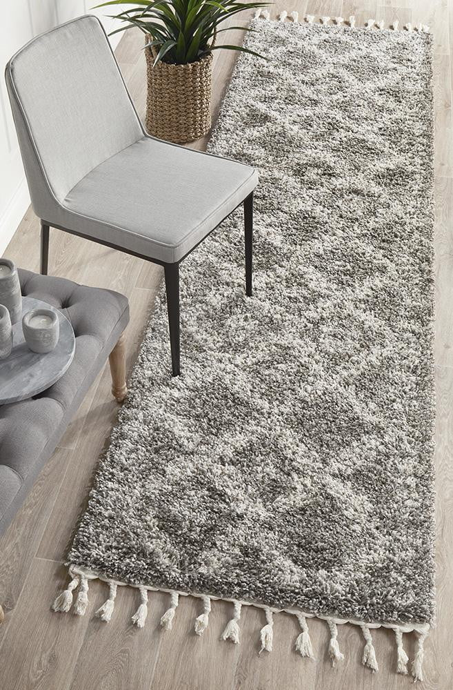 Bisque Grey Runner Rug