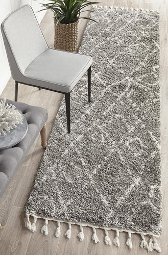 Chrome Grey Runner Rug