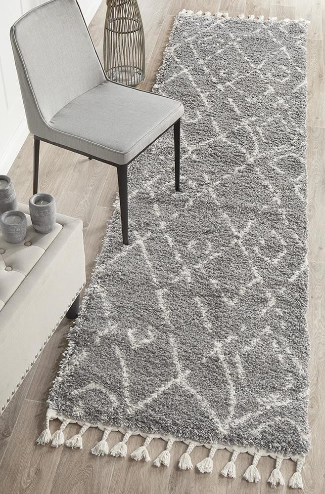 Chrome Silver Runner Rug