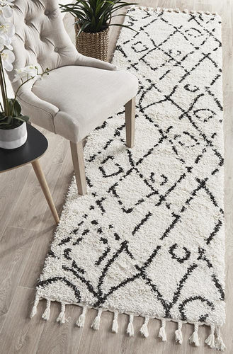 Chrome White Runner Rug