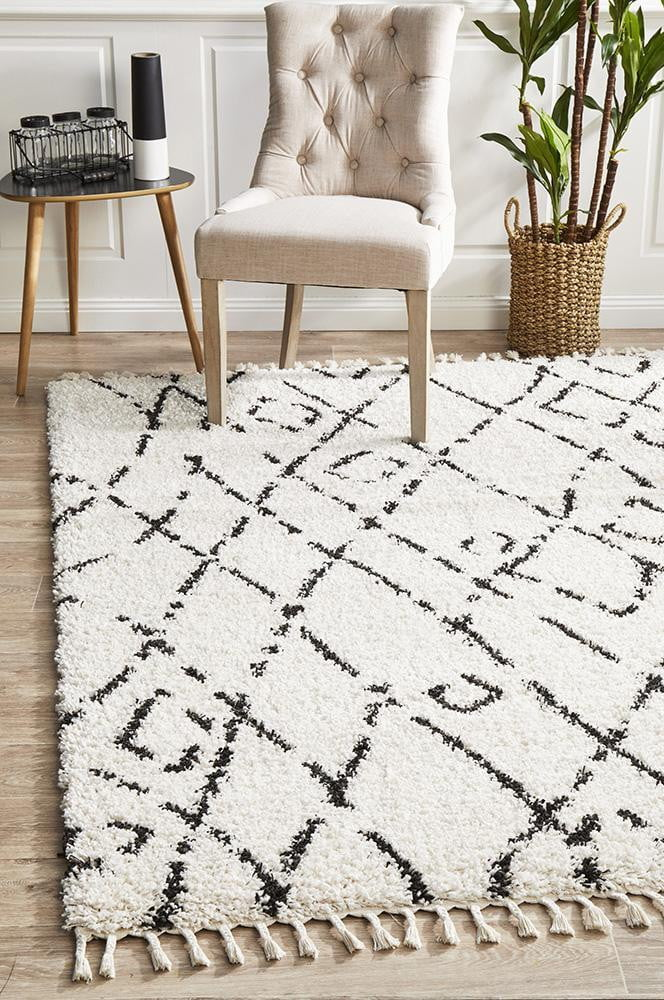 Chrome White Rug