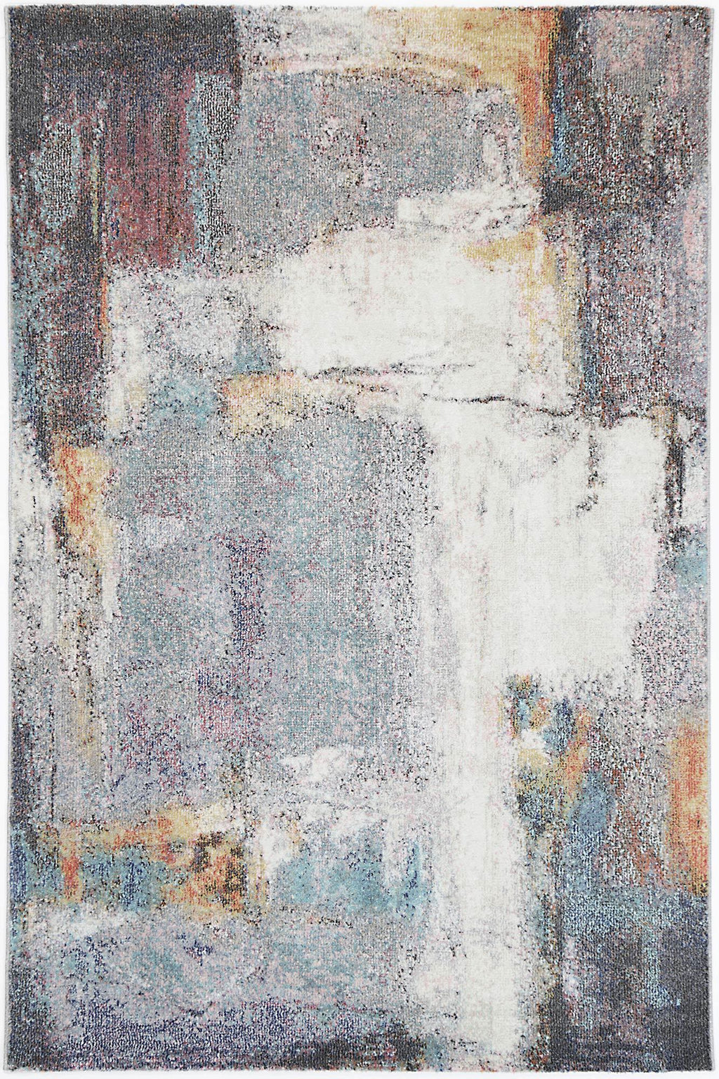 Chamber Hall Abstract Grey Rug