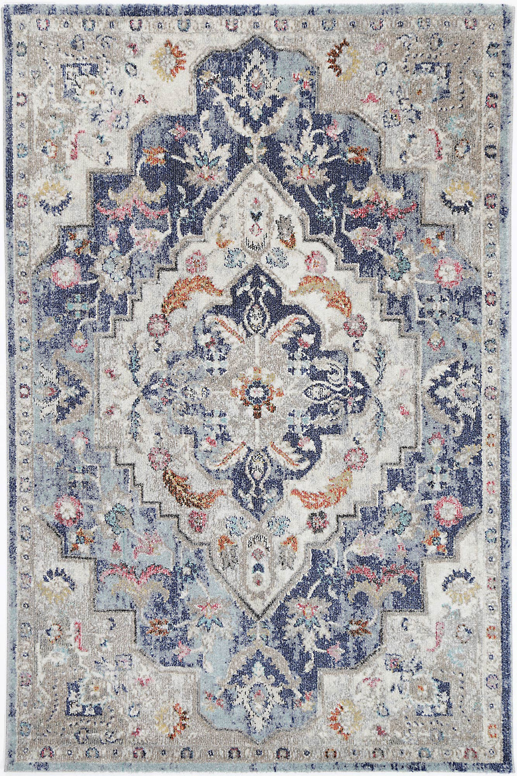 Chamber Cell Transitional Navy Multi Rug