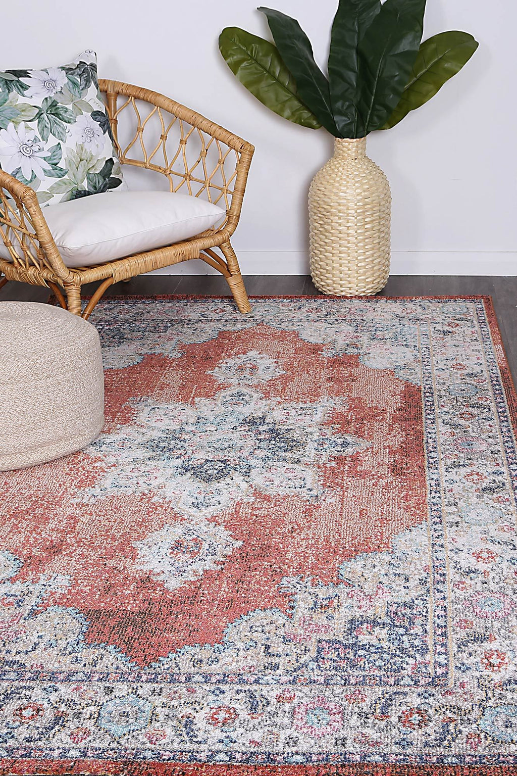 Chamber Room Transitional Rust Rug