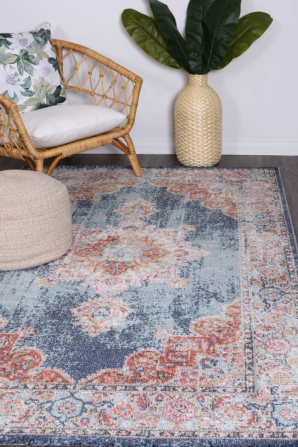 Chamber Room Transitional Navy Rug