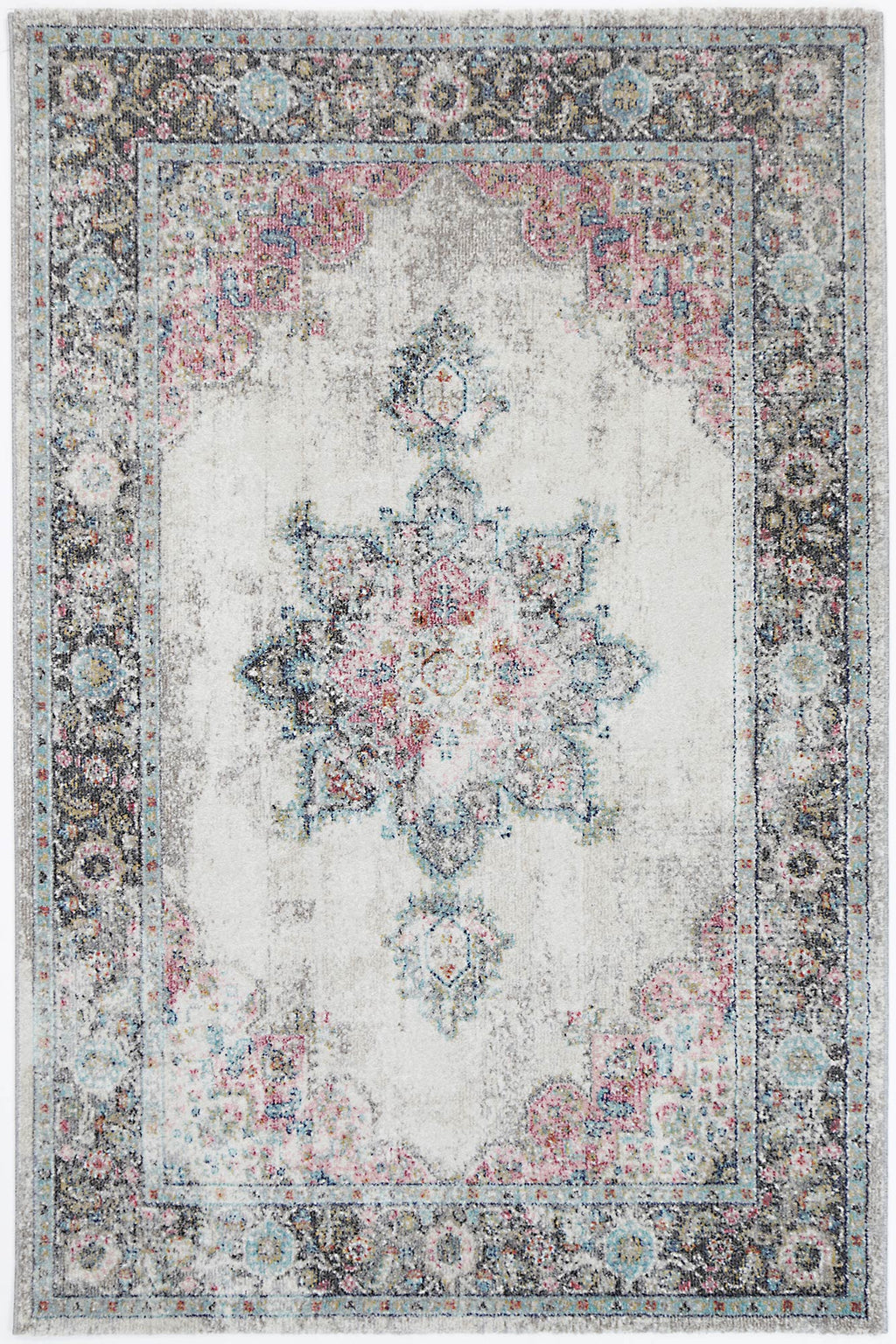 Chamber Room Transitional Cream Rug