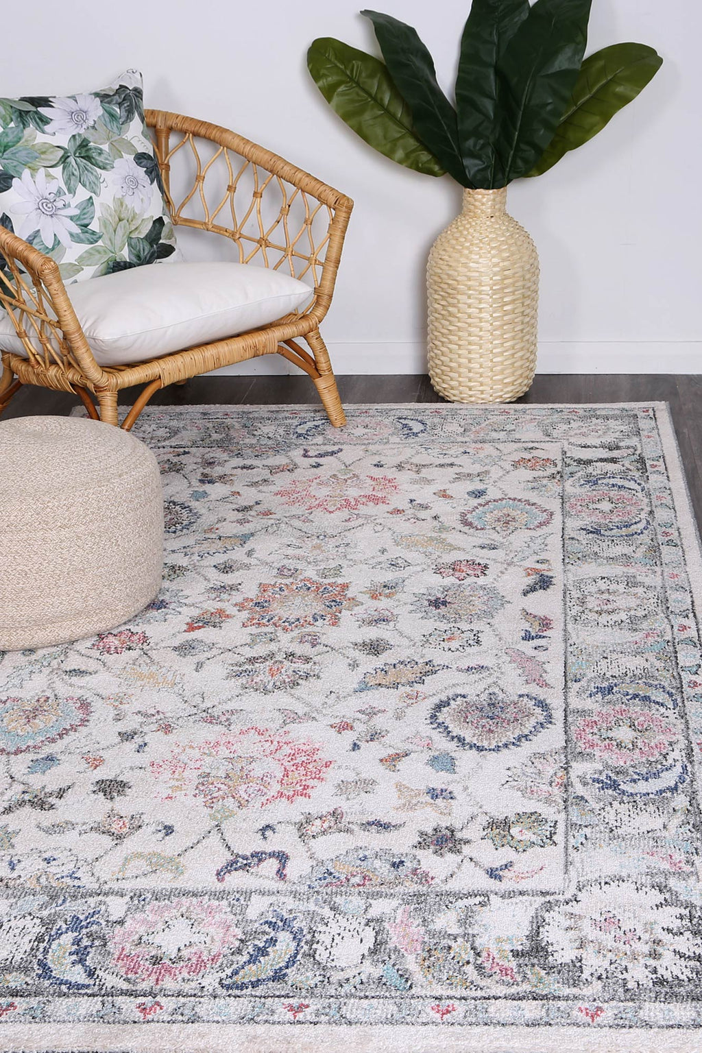 Chamber Transitional Cream Rug