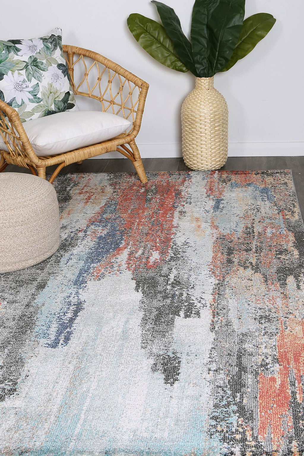 Chamber Saloon Abstract Multi Rug