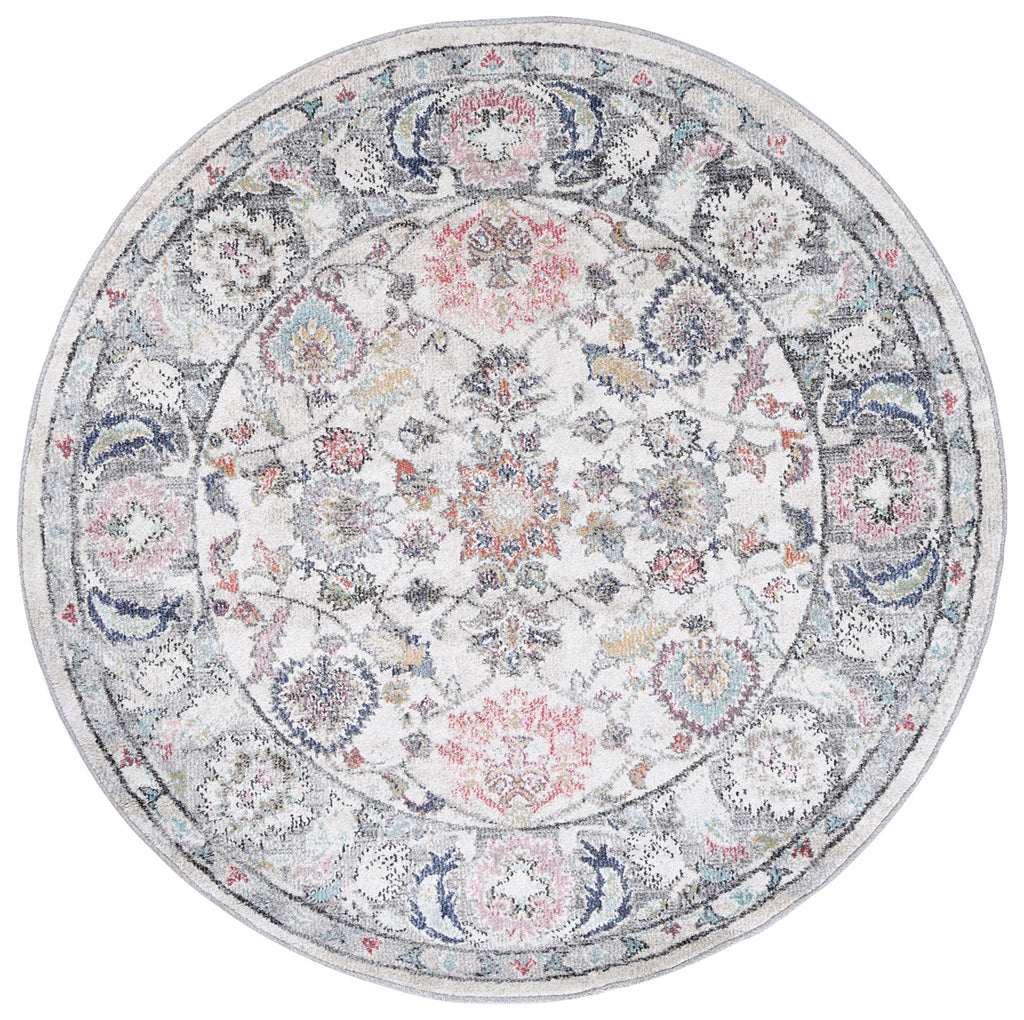 Chamber Transitional Cream Round Rug